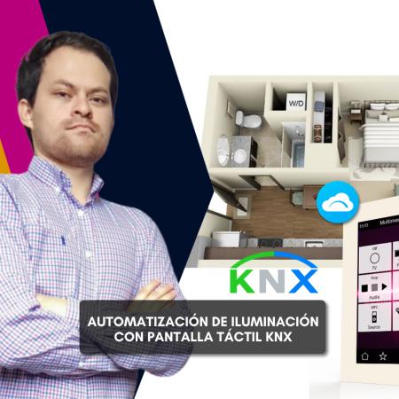 Automatización de iluminación con Pantalla Táctil KNX