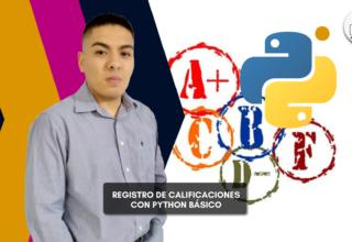 Registro de calificaciones con Python básico