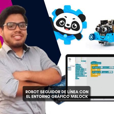 Robot seguidor de línea con el entorno gráfico MBlock