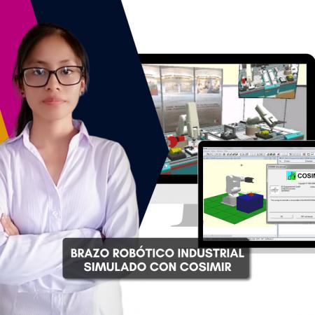 Simulación de Brazo Robótico Industrial con Cosimir