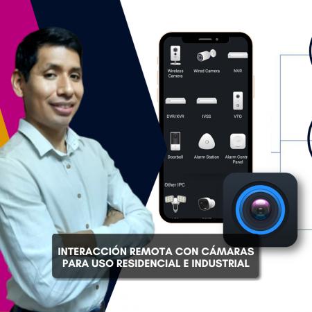 Interacción remota con cámaras para uso residencial o industrial